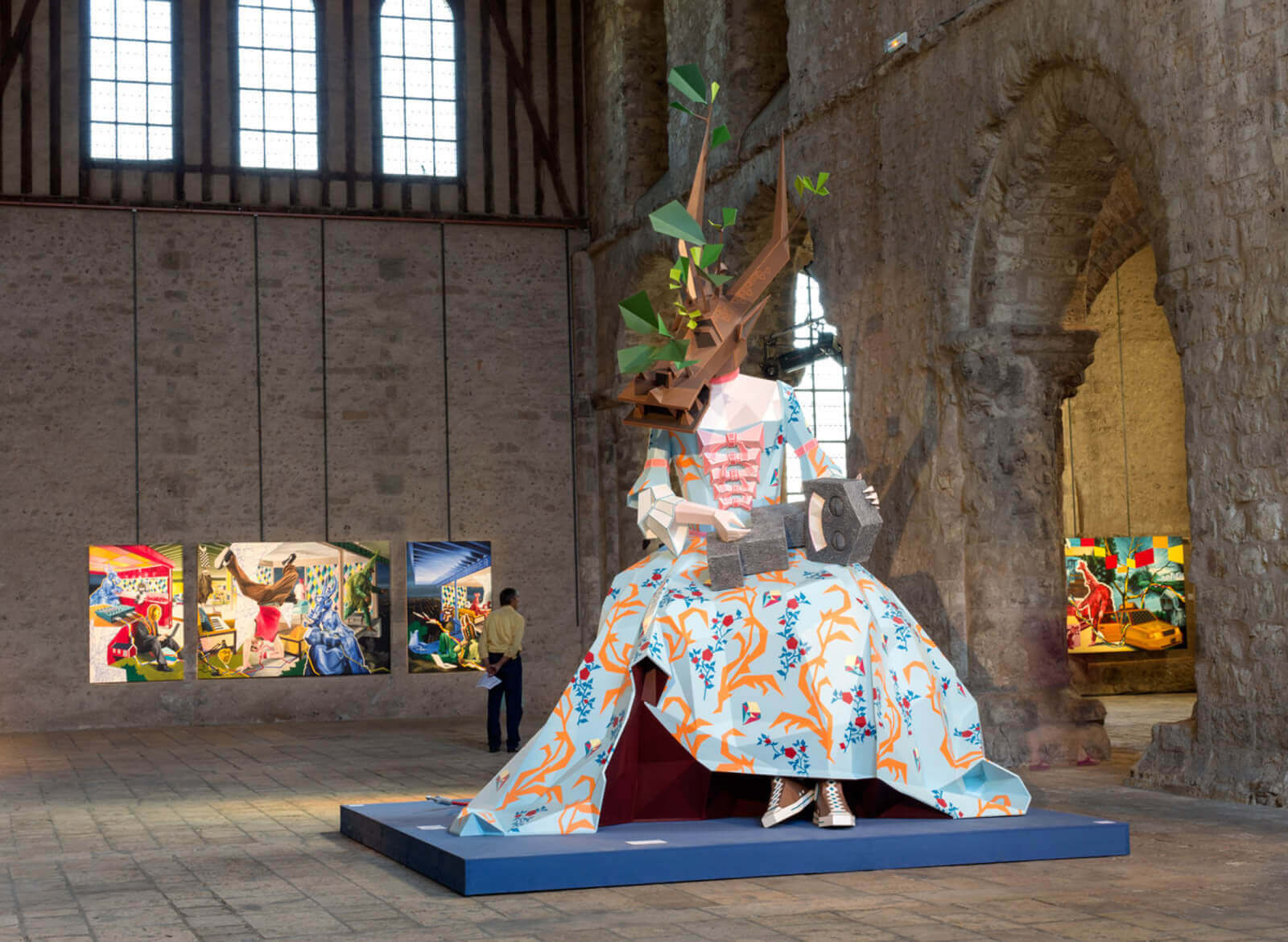 Ateliers Artigo Paris - KATIELO - KRIKI2013 Sculpture monumentale - Techniques mixtes - Collégiale St André - Chartres
